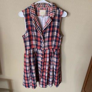 Mod cloth plaid dress